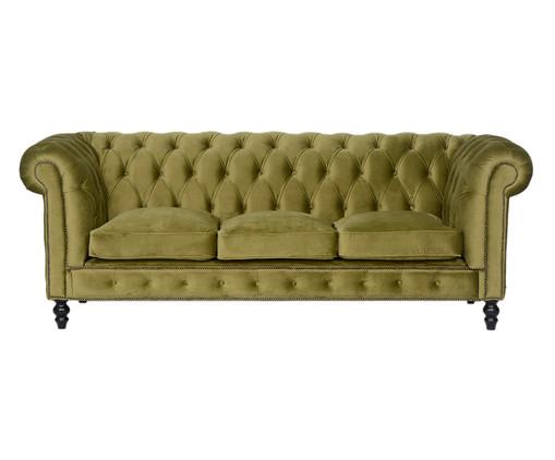 Sofá Chesterfield em Veludo - Verde Vintage, Amarelo   WestwingNow