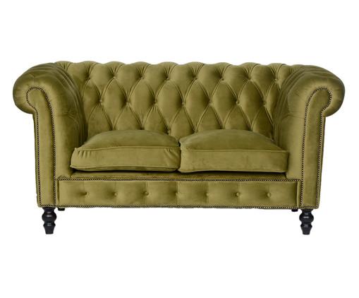 Sofá Chesterfield em Veludo - Verde Vintage, Amarelo, Colorido | WestwingNow