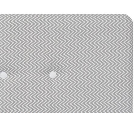 Cabeceira Painel em Linho com Botões Donna - Cinza | WestwingNow