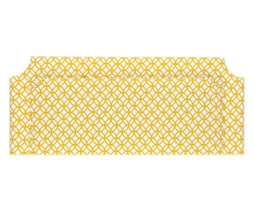 Cabeceira em Linho com Vivo Katie - Mostarda, Amarelo | WestwingNow