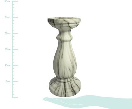 Castiçal Decorativo de Cerâmica Clara - Cinza e Branco | WestwingNow