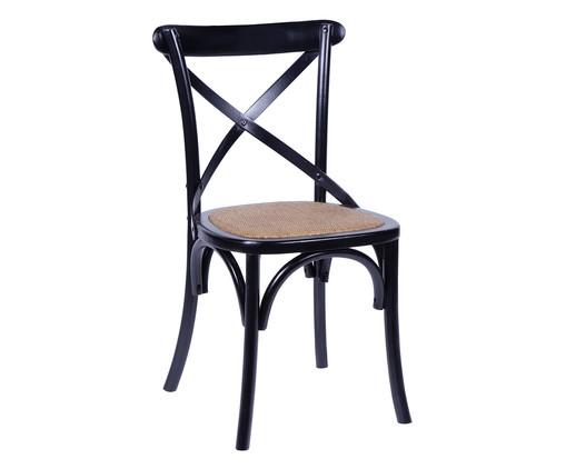 Cadeira de Madeira Wood Cross - Preto, Preto, Colorido   WestwingNow