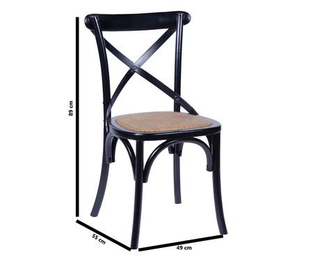 Cadeira Wood Cross - Preta | WestwingNow