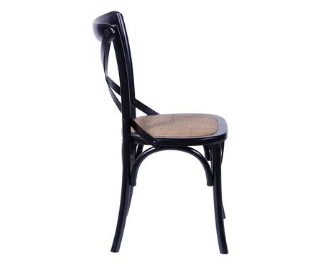 Cadeira de Madeira Wood Cross - Preto | WestwingNow