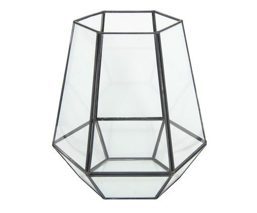 Vaso Iraê - Preto e Transparente, Transparente | WestwingNow