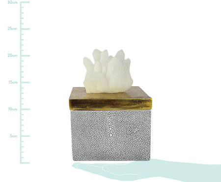 Pote Decorativo Elisa - Branco e Dourado | WestwingNow