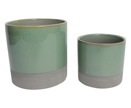 Jogo de Vasos Angelique - Verde e Cinza, Cinza, Verde | WestwingNow