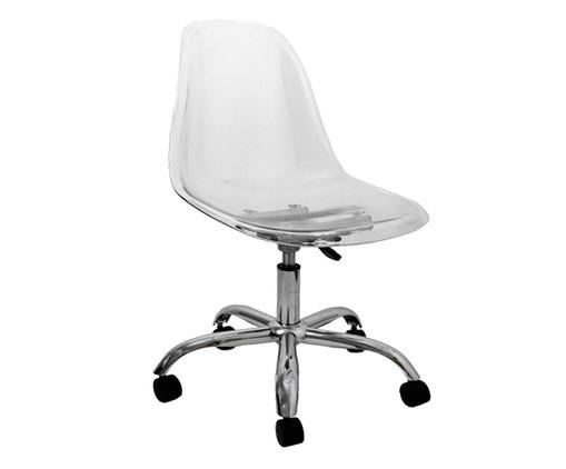 Cadeira Eames com Rodízio - Transparente, Branco, Colorido | WestwingNow