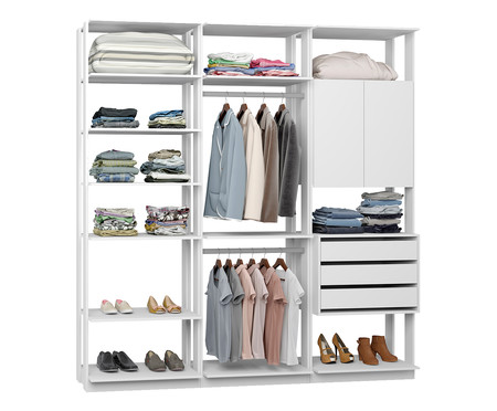 Guarda-Roupa Closet Motta - Branco | WestwingNow