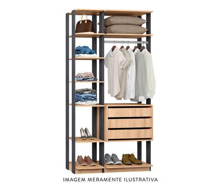 Guarda-Roupa Closet Motta - Carvalho e Espresso | WestwingNow