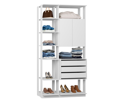 Guarda-Roupa Closet Lina - Branco, Branco | WestwingNow