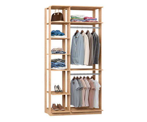 Guarda-Roupa Closet Duplo Blois - Carvalho, Natural | WestwingNow