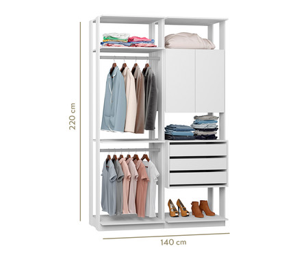 Guarda-Roupa Closet Clothes Lina - Branco | WestwingNow