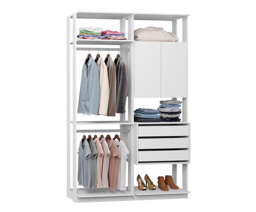 Guarda-Roupa Closet Clothes Lina - Branco, Branco | WestwingNow