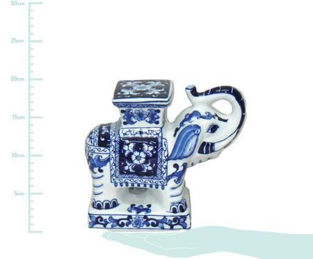 Adorno Nick em Cerâmica - Azul e Branco | WestwingNow