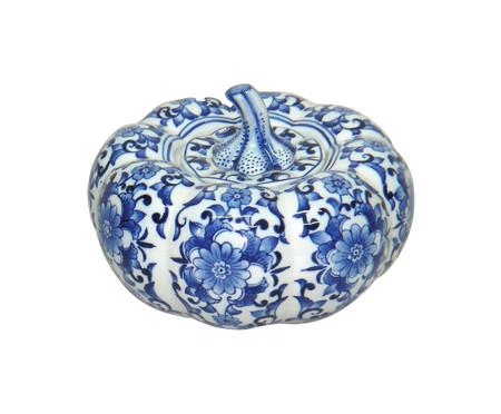Pote Decorativo em Porcelana Moranga - Azul e Branco | WestwingNow