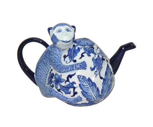Adorno Whili em Cerâmica - Azul e Branco, Branco, Azul | WestwingNow
