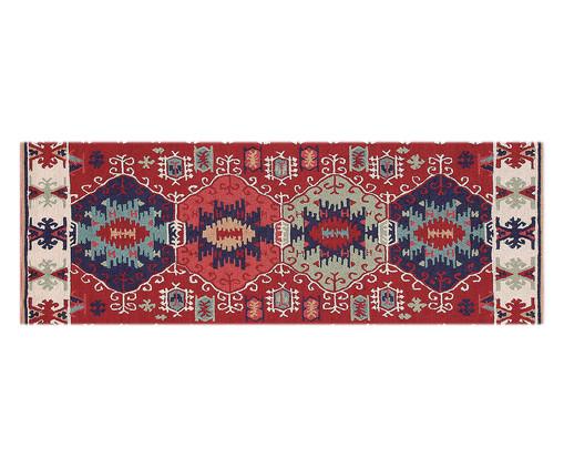 Tapete Passadeira Emborrachada Orient - Colorido, Vermelho, Azul, Colorido | WestwingNow