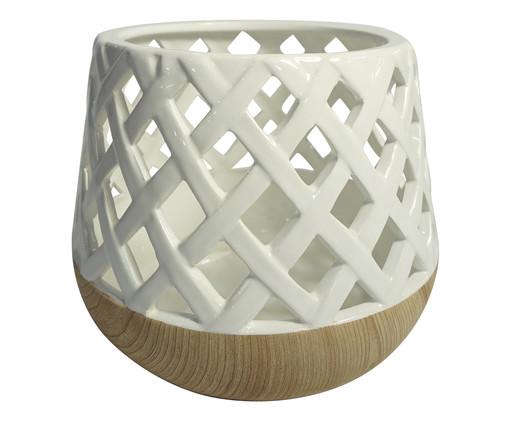Lanterna Emuna - Branca e Marrom, Branco, Marrom | WestwingNow