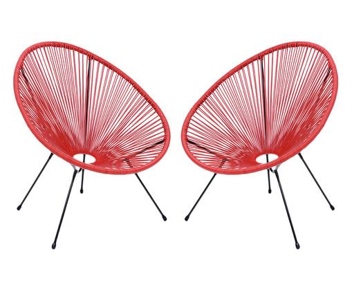 Jogo de Cadeiras Acapulco - Marsala, Vermelho | WestwingNow