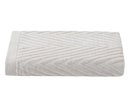 Toalha de Banho Espinha de Peixe Fog - 460 g/m², Bege | WestwingNow