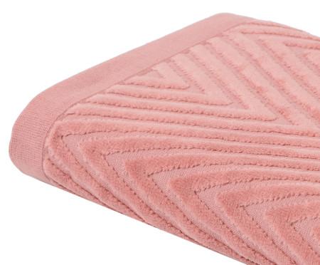 Toalha de Banho Espinha de Peixe Rosé - 460 g/m² | WestwingNow