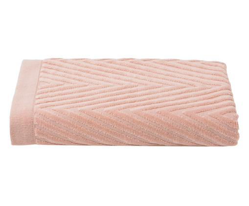 Toalha de Banho Espinha de Peixe Powder - 460 g/m², Rosa | WestwingNow