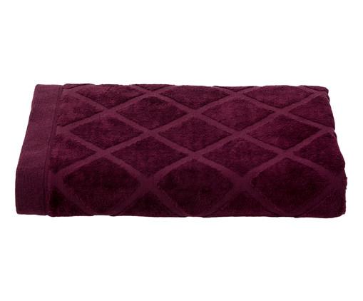 Toalha de Banho Diamante Vinho - 460 g/m², Vinho | WestwingNow