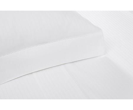 Jogo de Lençol Damask Stripes Branco - 300 Fios   WestwingNow