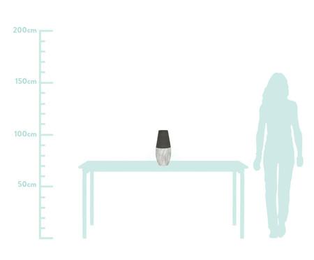 Vaso de Cerâmica Marmorizada Ender - Cinza e Branco | WestwingNow