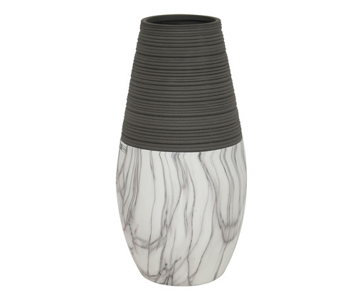 Vaso Ender - Cinza e Branco, Preto | WestwingNow