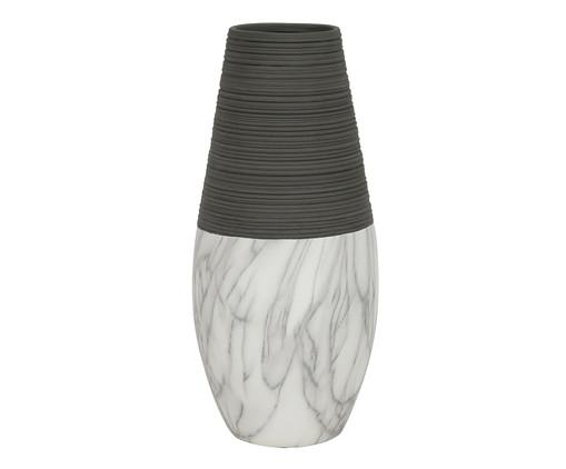 Vaso de Cerâmica Marmorizada Ender - Cinza e Branco, Preto | WestwingNow