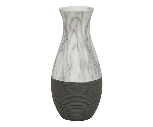 Vaso de Cerâmica Bolu - Cinza e Branco, Preto | WestwingNow
