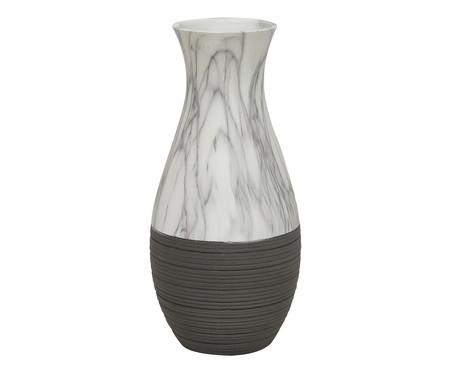Vaso de Cerâmica Bolu - Cinza e Branco | WestwingNow