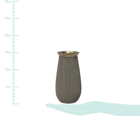 Vaso de Cerâmica Jacquelyn - Cinza | WestwingNow