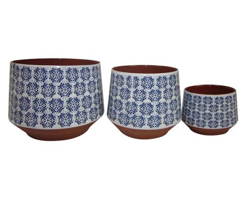 Jogo de Cachepots Jacob - Azul e Marrom, Marrom, Azul | WestwingNow