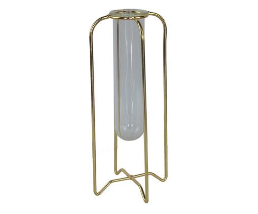 Vaso Odelia - Dourado e Transparente, Dourado, Transparente | WestwingNow
