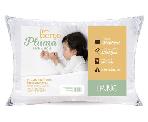 Travesseiro Baby Pluma Sintética Brown, Branco | WestwingNow