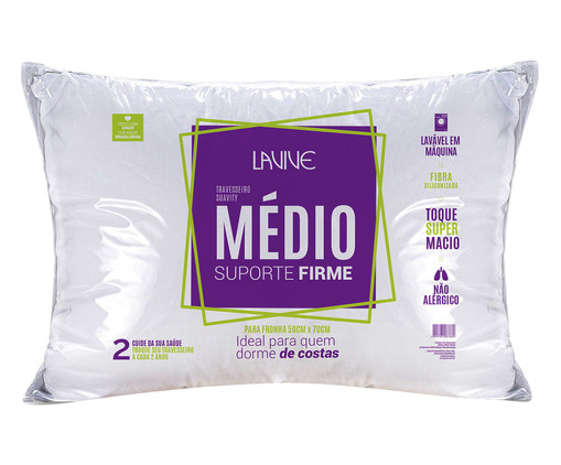 Travesseiro Suavity Firme - Branco, Branco   WestwingNow