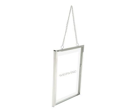 Porta-Retrato Shiny Frame Chain - Prateado   WestwingNow