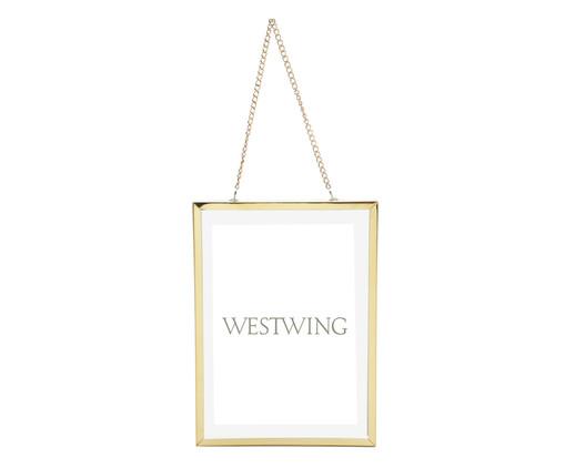 Porta-Retrato Shiny Frame Chain - Dourado, Colorido | WestwingNow