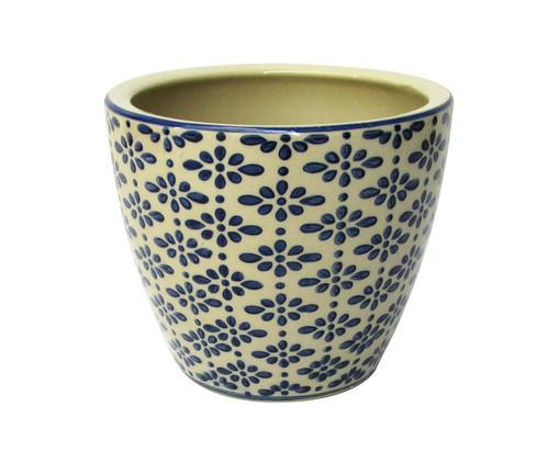 Cachepot de Cerâmica Fabrizio - Bege e Azul, Bege, Azul | WestwingNow