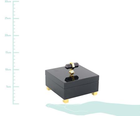 Caixa Decorativa de Madeira Agnès - Preta e Dourada | WestwingNow