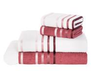 Jogo de Toalhas Lumina Branco e Rosa Malaga - 500g/m² | WestwingNow