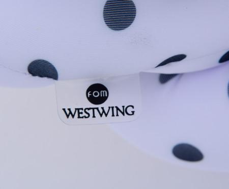Almofada Flor Celta Poá - Branca | WestwingNow