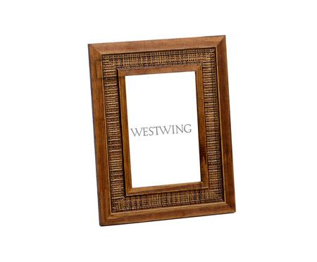 Porta-Retrato de Madeira Ariana - Marrom | WestwingNow