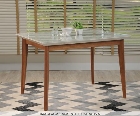 Mesa de Jantar Quadrada em Madeira Julien - Branca | WestwingNow