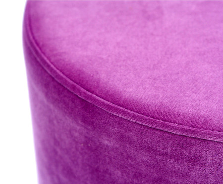 Pufe em Veludo Harlow Slim Frame - Rosa | WestwingNow