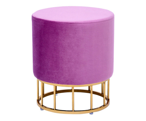 Pufe em Veludo Harlow Slim Frame - Rosa, Colorido | WestwingNow