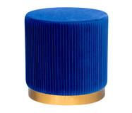 Pufe em Veludo Harlow Plissê - Azul | WestwingNow